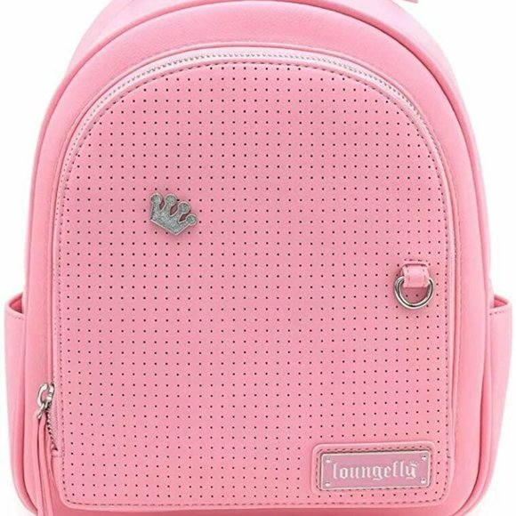 LOUNGEFLY PINK PIN TRADER MINI BACKPACK